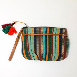 Handbags - 🛒 Fairtrade Colorful Striped Wristlet with Tassle